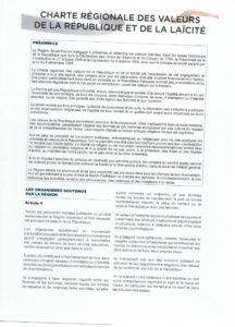 Charte de la laïcité 2018